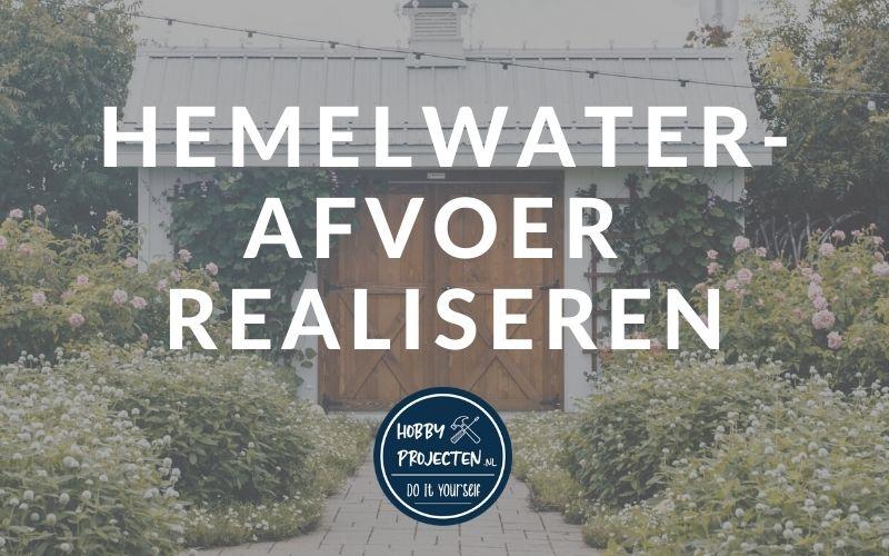 hemelwaterafvoer realiseren