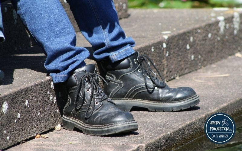 Zwarte hoge werkschoenen